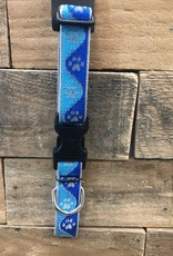 Lupine High Visibility Blue Paw Collar & Leashes dog