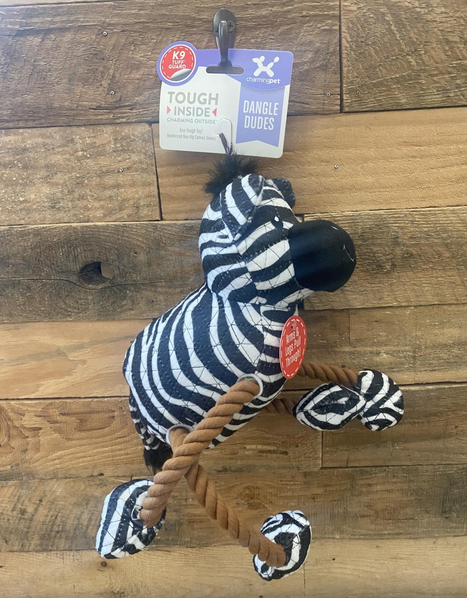 Charming Pet Charming Pet Dangle Dudes Zebra Medium