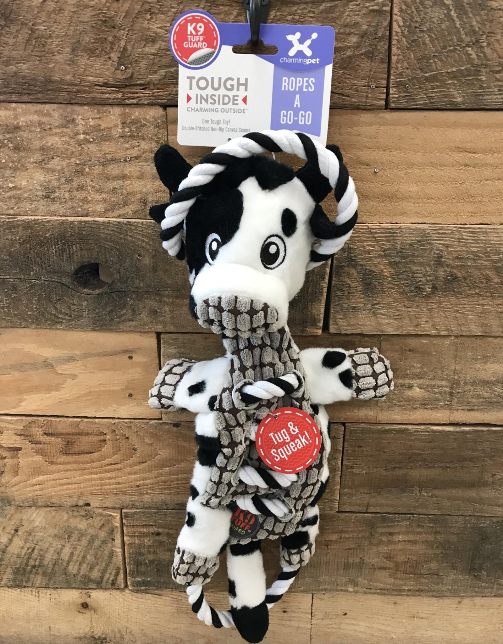 Outward Hound - Charming Pet Charming Pet Ropes-A-Go-Go Cow