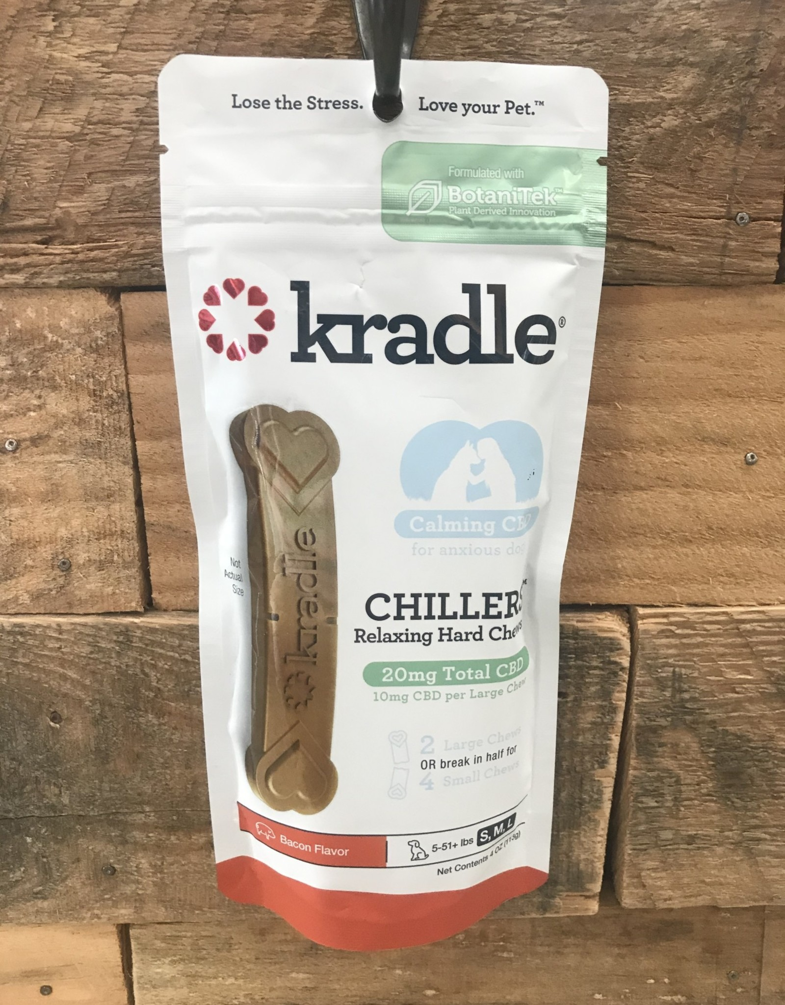 Kradle Kradle Chillers Hard Chew 2ct. - Bacon