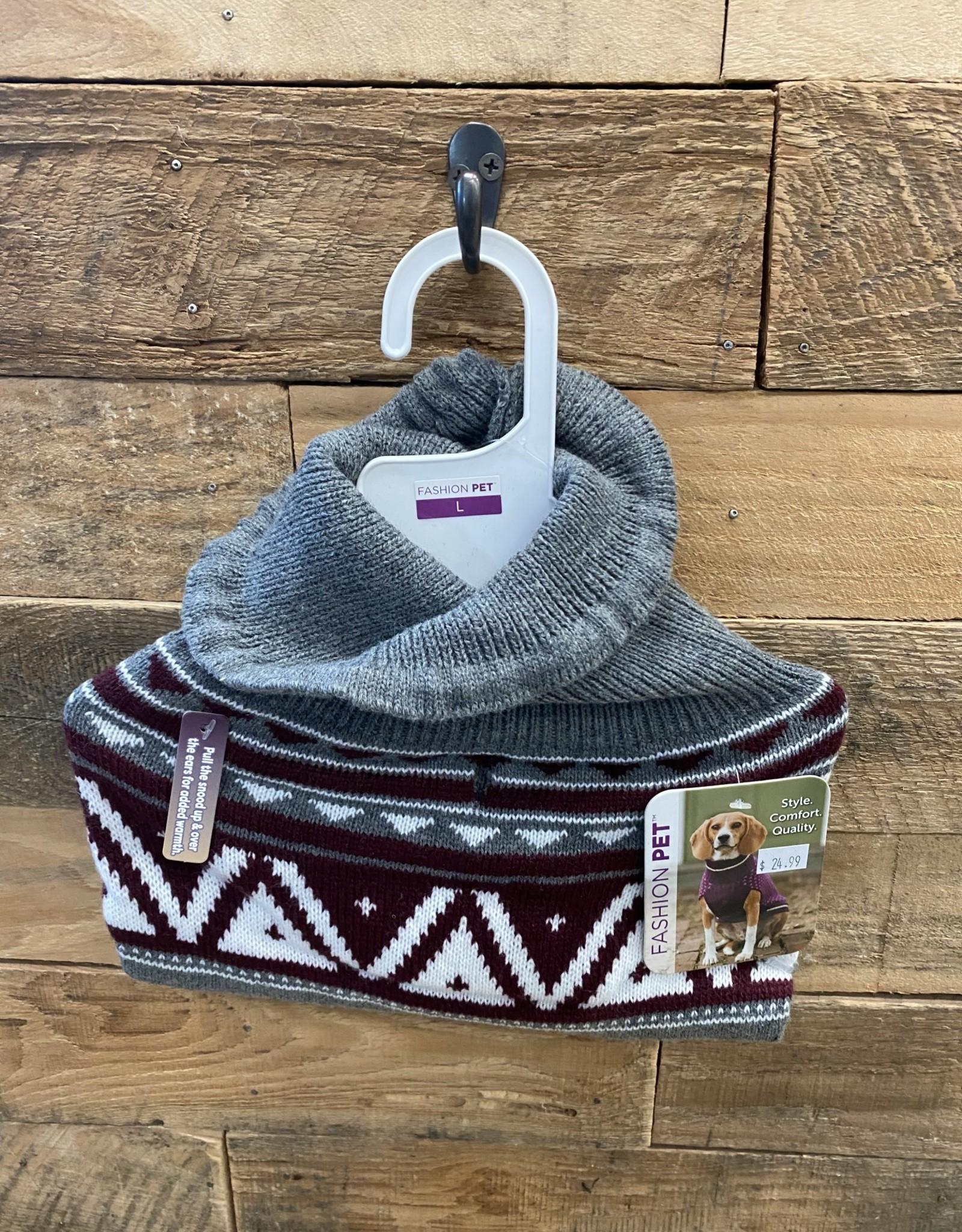 Fashion Pet Nordic Snood Sweater Gray Large