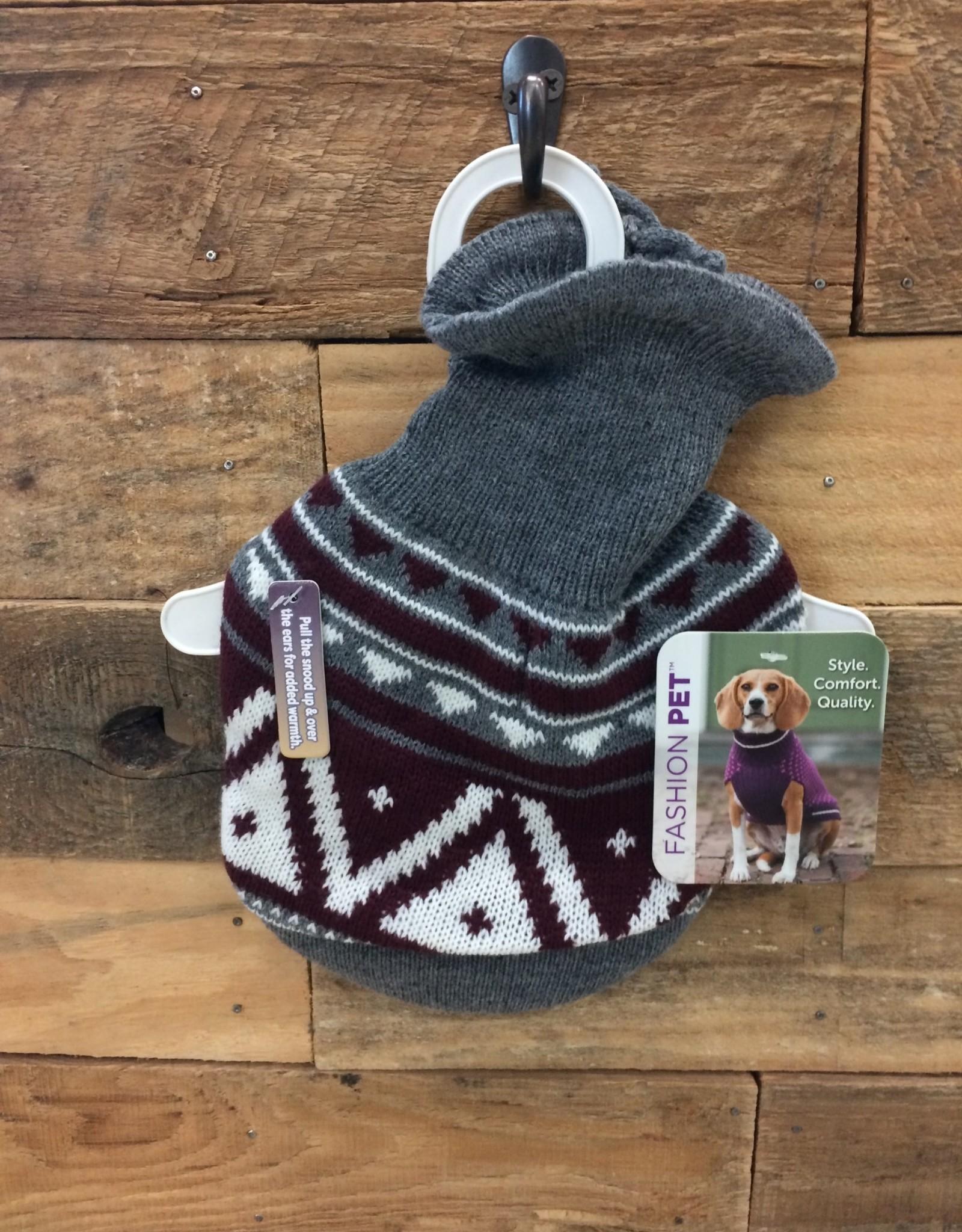 Fashion Pet Nordic Snood Sweater Gray Small
