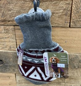 Fashion Pet Nordic Snood Sweater Gray XS