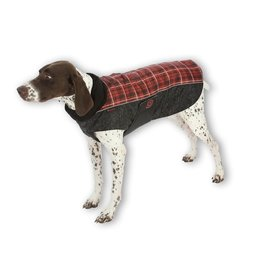 Ultra Paws comfort coat red plaid Small
