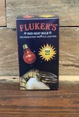 Fluker Red Heat Bulb 100W.