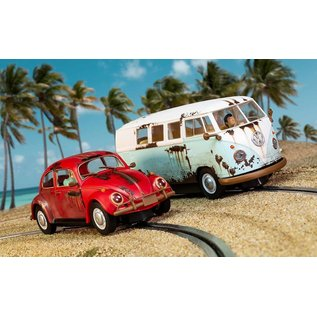 SCALEXTRIC SCA C3966A RUSTY RIDES VW SET SLOT CARS