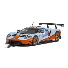 SCALEXTRIC SCA C4034 FORD GT GULF EDITION SLOT CAR