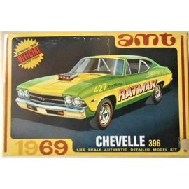 AMT AMT 1138 1/25 1969 Chevy Chevelle Hardtop Model kit