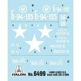 ITALERI ITA 6499 LEND-LEASE U.S. TRUCK WITH ZIS-3 GUN