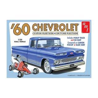 AMT AMT 1063 1/25 1960 Chevy Fleetside Pickup w/Go Kart 2T
