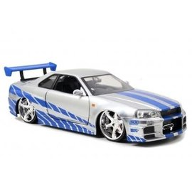 JADA TOYS JAD 97158 FAST AND FURIOUS SKYLINE SIL/BLU 1/24