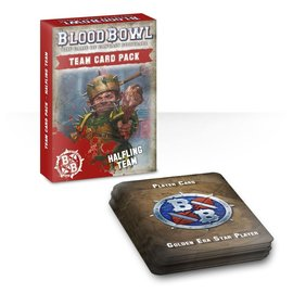 GAMES WORKSHOP WAR 60220999004 BLOOD BOWL HALFLING TEAM CARD PACK