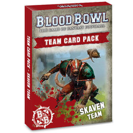 GAMES WORKSHOP WAR 60220906001 BLOOD BOWL SKAVEN TEAM CARD PACK