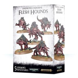 GAMES WORKSHOP WAR 99129915050 AOS DAEMONS OF KHORNE FLESH HOUNDS