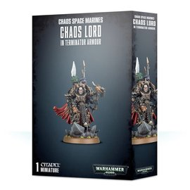 GAMES WORKSHOP WAR 99120102093 CHAOS SPACE MARINES CHAOS LORD IN TERMINATOR ARMOUR