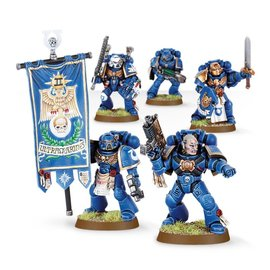 GAMES WORKSHOP WAR 99120101028 SPACE MARINE COMMAND SQUAD