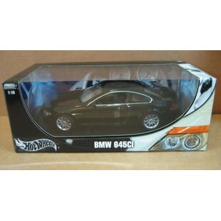 HOT WHEELS H/W 7528 BMW 645CI 1/18 DIECAST BLACK