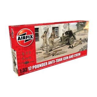 AIRFIX AIR 6361 17 POUNDER ANTI-TANK GUN AND CREW 1/32 MDOEL KIT