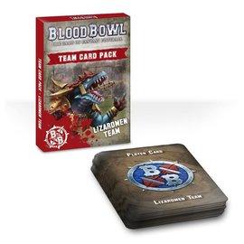 GAMES WORKSHOP WAR 60220908001 BLOOD BOWL TEAM CARD PACK LIZARDMEN TEAM