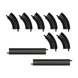 CARRERA CAR 61657 SINGLE LANE CURVES / STRAIGHT EXTENSION SET
