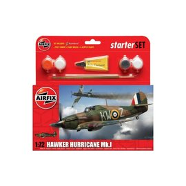 AIRFIX AIR 55111 HAWKER HURRICANE MK.I STARTER SET