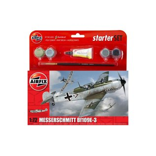 AIRFIX AIR A55106 1/72 Messerschmitt Bf 109E Starter Set