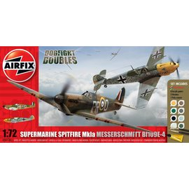 AIRFIX AIR 50135 1/72 Dogfight Dble Gift Set Spitfire 1a/Me Bf109E