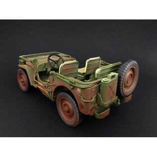 AD 77406A DIRTY JEEP 1/18 DIECAST-RESIN