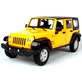 MAISTO MAI 31268Y 2015 JEEP UNLIMITED YELLOW 1/24 DIECAST