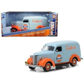 GREENLIGHT COLLECTABLES GLC 85011 GULF 1939 CHEVY PANEL TRUCK 1/24 DIECAST