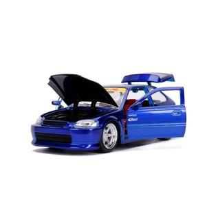 JADA TOYS JAD 30929 1997 Honda Civic Type R 1/24 BLUE 1/24 DIECAST