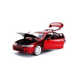 JADA TOYS JAD 30932 INTEGRA 1995 TYPE R RED 1/24 DIECAST