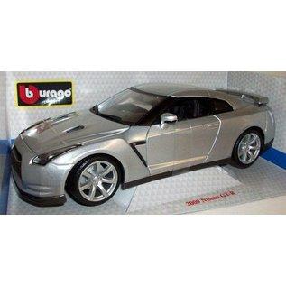 BURAGO BUR 12079 2009 NISSAN GTR SILVER 1/18 DIECAST
