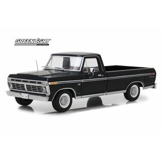 GREENLIGHT COLLECTABLES GLC 12963 1973 FORD F100 1/18 BLACK DIECAST