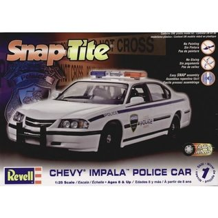 REVELL USA RMX 851928 SNAP TITE POLICE CAR 1/25 MODEL KIT