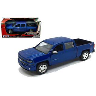 MOTOR MAX MOT 79348 1/27 2017 Chevrolet Silverado 1500 BLUE DIECAST
