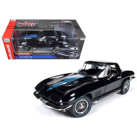 AUTOWORLD AMM 1099 CORVETTE 1967 427 BLACK 1/18 DIECAST