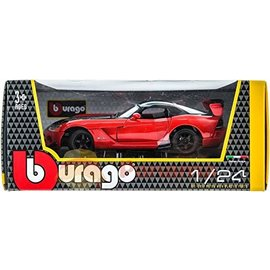 BURAGO BUR 22114 DODGE VIPER SRT10 ACR ORG/BLK 1/24 DIECAST