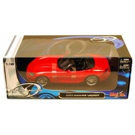 MAISTO MAI 31632 2003 DODGE VIPER SRT10 1/18 DIECAST RED