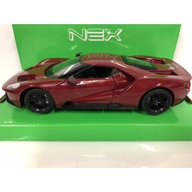 WELLY WEL 24082R 2017 FORD GT RED 1/24 DIECAST