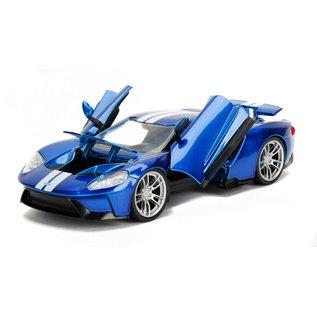 JADA TOYS JAD 99390 2017 FORD GT 1/24 DIECAST BLUE-WHITE