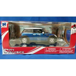 NRY 71023B BMW MINI COOPER 1/24 BLUE DIECAST