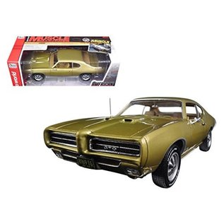 AUTOWORLD AMM 1081 1969 PONTIAC GTO GOLD 1/18 DIECAST
