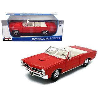 MAISTO MAI 31884 PONTIAC GTO RED CONVERTIBLE 1965 1/18