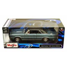 MAISTO MAI 31885BS GTO 1965 HARDTOP 1/18 BLUE DIECAST