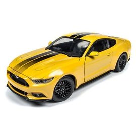 AUTOWORLD AMM AW229 2016 FORD MUSTANG GT YELLOW 1/18 DEICAST