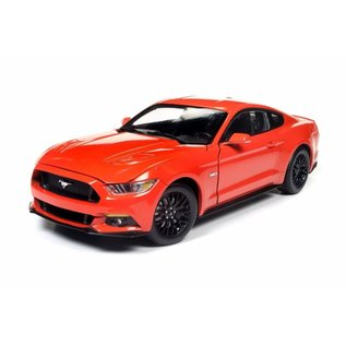 AUTOWORLD AMM AW242 2016 FORD MUSTANG GT ORANGE 1/18 DIECAST