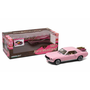 GREENLIGHT COLLECTABLES GLC 12966 1967 FORD MUSTANG PINK 1/18 DIECAST
