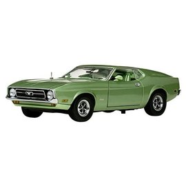 AUTOWORLD S/S 3620 FORD MUSTANG 1/18 1971 GREEN DIECAST