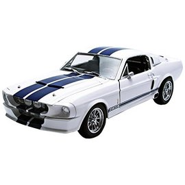 GREENLIGHT COLLECTABLES GLC 12929 1967 MUSTANG SHELBY GT500 WHITE/BLUE 1/18 DIECAST